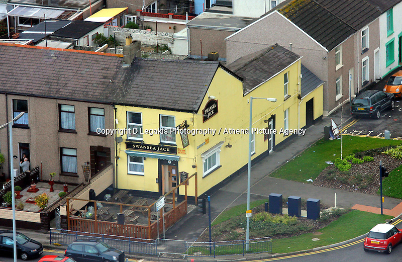 Pictured: Swansea Jack pub public house oystermouth road general view of Swansea as seen from the Penthouse restaurant<br /> Re: The new Penthouse restaurant on the top three levels of Meridian Quay, the highest building in Wales situated in Swansea Marina. Wednesday 25 November 2009<br /> Picture by D Legakis Photography / Athena Picture Agency, 24 Belgrave Court, Swansea, SA1 4PY, 07815441513<br /> dillwyn road dilwyn street