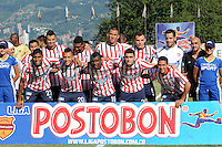 ITAG†ê -COLOMBIA-16-11-2013. Formacion   del Atletico Junior contra  el Itagui ,partido correspondiente  a la primera fecha de los cudrangulares  finales de la Liga Postobon II semestre ,estadio Metropolitano  de Itagui / Team of Atletico Junior against  of Itagui game for the first date of the end of the League cudrangulares Postobon II semester Itagui Metropolitan StadiumPhoto:VizzorInage / Luis Rios / Stringer