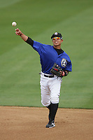April 28, 2010: Darwin Perez of the Rancho Cucamonga Quakes during game against the Visalia Rawhide at The Epicenter in Rancho Cucamonga,CA.  Photo by Larry Goren/Four Seam Images