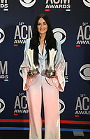LAS VEGAS, NEVADA - APRIL 07: : Female Artist of the Year winner Kacey Musgraves poses in the press room during the 54th Academy Of Country Music Awards at MGM Grand Hotel &amp; Casino on April 07, 2019 in Las Vegas, Nevada.  <br /> CAP/MPIIS<br /> &copy;MPIIS/Capital Pictures
