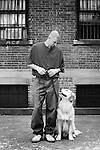 """ANDREW AND REZZIE, 18-MONTH-OLD GOLDEN RETRIEVER -- Andrew was sentenced to 14 1/2 years for robbery and has been in prison for 11 years. ANDREW: """"I've learned how to work with other people and do more for others. It [training dogs] allows my daughters to be proud of me to know I'm doing something good for someone else. I want to be a veterinarian. Rezzie has a natural way with him. He knows when a person is not able to do too much for themself. He will put his paw on the person's lap in a wheelchair so they can pet him. It's like you lose a part of your family when the dogs leave."""" ...The Puppies Behind Bars (PPB) Program works with prison inmates in New York, New Jersey, and Connecticut to train service dogs, including ones who help injured soldiers. The puppies arrive at 8 weeks-old and remain at the prisons, mostly working with one inmate, for 20 months. Fishkill Correctional Facility is a medium security prison in New York with 22 men in the puppy program. The emotional element of caring for the puppies breaks down the hard façade that most prisoners create for themselves to survive prison life.  Prisoners learn responsibility and pride in helping others. The program often gives them a new outlook on their crimes, their time in prison, and goals when they are released. .."""