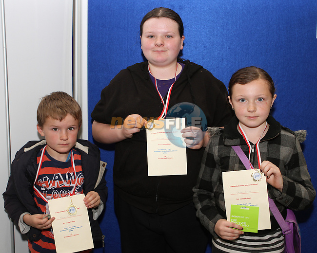 Brandon, Shantel and Chloe Smith at the Medal Presentation for the Drogheda Library Reading Challenge...Photo NEWSFILE/Jenny Matthews.