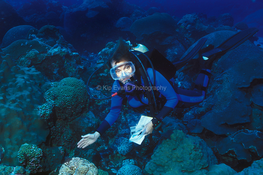 Dr. Sylvia Earle scuba diving off the coast of Florida.
