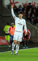 Ki Sung Yueng of Swansea during the Barclays Premier League match between Swansea City and West Bromwich Albion played at the Liberty Stadium, Swansea on December 26 2015