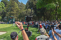 Phil Mickelson (USA) rims out his chip shot for eagle on 2  during round 4 of the World Golf Championships, Mexico, Club De Golf Chapultepec, Mexico City, Mexico. 3/4/2018.<br /> Picture: Golffile | Ken Murray<br /> <br /> <br /> All photo usage must carry mandatory copyright credit (&copy; Golffile | Ken Murray)