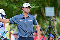Kevin Kisner (USA) looks over his tee shot on 11 during Saturday's round 3 of the PGA Championship at the Quail Hollow Club in Charlotte, North Carolina. 8/12/2017.<br /> Picture: Golffile | Ken Murray<br /> <br /> <br /> All photo usage must carry mandatory copyright credit (&copy; Golffile | Ken Murray)