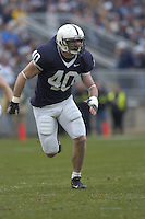 18 November 2006:  Penn State LB Dan Connor (40)..The Penn State Nittany Lions defeated the Michigan State Spartans 17-13 for the Land Grant Trophy November 18, 2006 at Beaver Stadium in State College, PA..