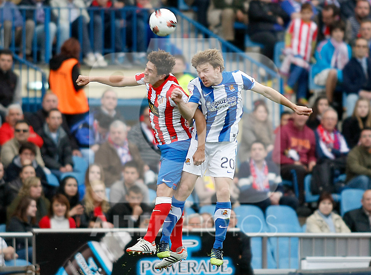 Atletico de Madrid's Koke (l) and Real Sociedad's Asier Illarramendi during La Liga match.Mayo 2,2012. (ALTERPHOTOS/Alconada)