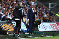 Manchester City manager Manuel Pellegrini during the Barclays Premier League match between Swansea City and Manchester City played at The Liberty Stadium, Swansea on 15th May 2016