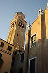 Italian church with evening shadows