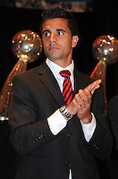 D.C. United midfielder Marcelo Saragosa ,at the United Kickoff luncheon, at the Marriott hotel in Washington DC, March 5, 2012.