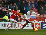 Ryan Kent  of Coventry City tussles with Paul Coutts of Sheffield Utd - English League One - Sheffield Utd vs Coventry City - Bramall Lane Stadium - Sheffield - England - 13th December 2015 - Pic Simon Bellis/Sportimage-