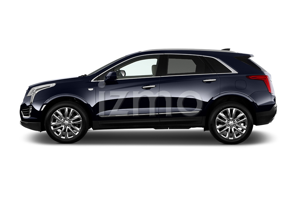 Car Driver side profile view of a 2019 Cadillac XT5 Platinum 5 Door Suv Side View