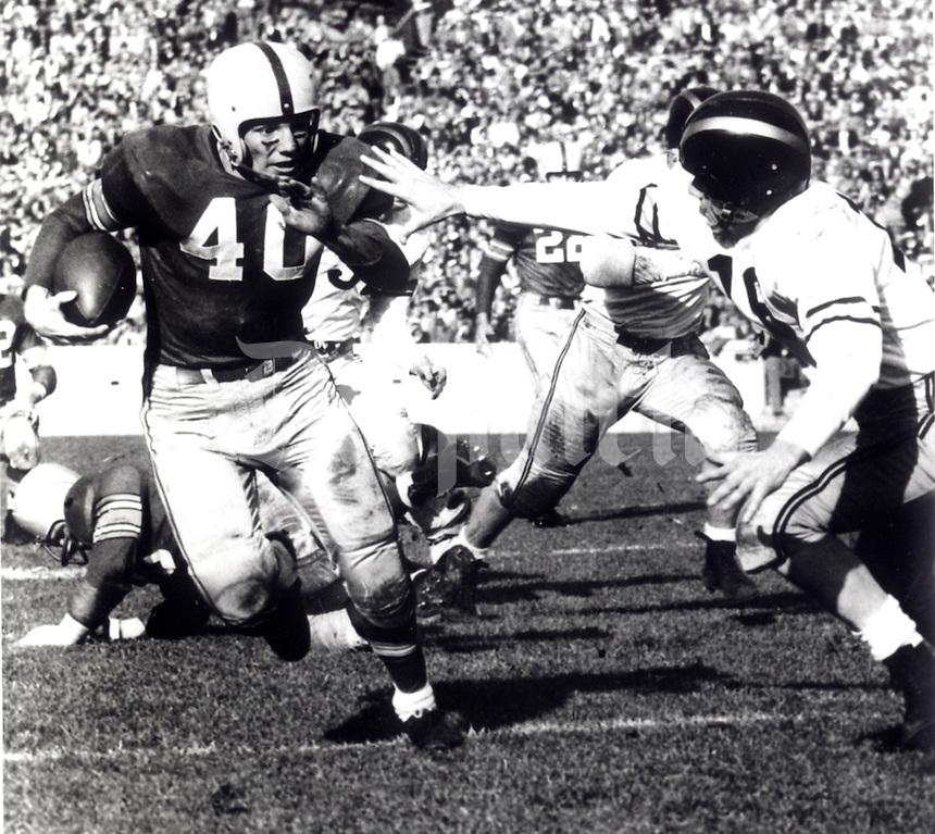 "Undated black and white file photo of OSU Ohio State football player HOPALONG CASSADY, HOP CASSADY,  Howard ""Hopalong"" Cassady.   Columbus Dispatch photo by Fred Shannon"
