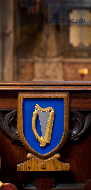 June 13, 2012; Ireland Coat of Arms in St. Patrick's Cathedral, Dublin..Photo by Matt Cashore/University of Notre Dame