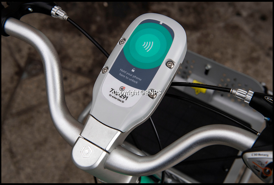 BNPS.co.uk (01202 558833)<br /> Pic: PhilYeomans/BNPS<br /> <br /> The bikes are left in 120 GPS recorded bays across the town.<br /> <br /> An innovative bike share scheme has been wheeled out in a popular seaside resort as part of a bid to reduce congestion.<br /> <br /> The Beryl Bikes, which can be hired through a smartphone app, will be dotted around designated bays in Bournemouth and Poole, Dorset.<br /> <br /> It is the first time cycling firm Beryl have offered a citywide bike-hire service and will aim to reduce traffic in the bustling coastal region.