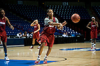 SPOKANE, WA - MARCH 25, 2011: Melanie Murphy at the Stanford Women's Basketball, NCAA West Regionals practice at Spokane Arena on March 25, 2011.