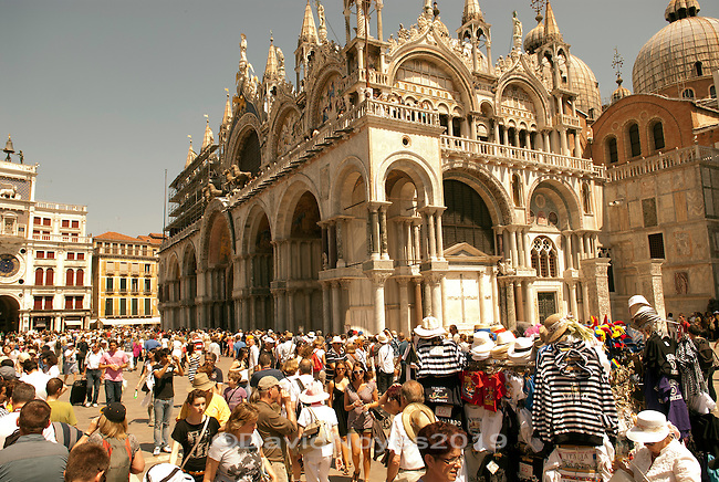 Piazza San Marco (St Mark's Square) is the famous public square of Venice and has two of the cities most important sights; the Basilica of Saint Mark and Palazzo Ducale.