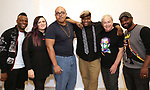 "Rickey Tripp, Annastacia Victory, Aurin Squire,  Juson Williams, Christopher Renshaw and Michael O. Michell. During the Open Rehearsal for the Miami New Drama's World Premiere Musical  ""A Wonderful World"" at the Ripley-Grier Studios on January 26, 2020 in New York City."