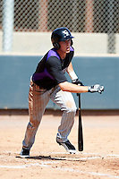 Colorado Rockies minor league infielder Trevor Story #10 during an instructional league intrasquad game at the Salt River Flats Complex on October 5, 2012 in Scottsdale, Arizona.  (Mike Janes/Four Seam Images)