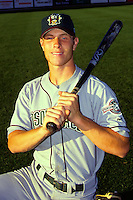 Hudson Valley Renegades outfielder Josh Hamilton poses for a photo prior to a game versus the Lowell Spinners at LeLacheur Park in Lowell, Massachusetts in August of 1999.  (Ken Babbitt/Four Seam Images)