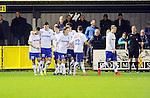 2015-10-17 / Voetbal / Seizoen 2015-2016 / KSK Heist -  Tubeke / Heist kon nog vieren na de 1-0 maar dat feestje was van zeer korte duur.<br /><br />Foto: Mpics.be