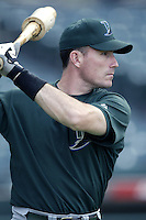John Flaherty of the Tampa Bay Devil Rays before a 2002 MLB season game against the Los Angeles Angels at Angel Stadium, in Los Angeles, California. (Larry Goren/Four Seam Images)
