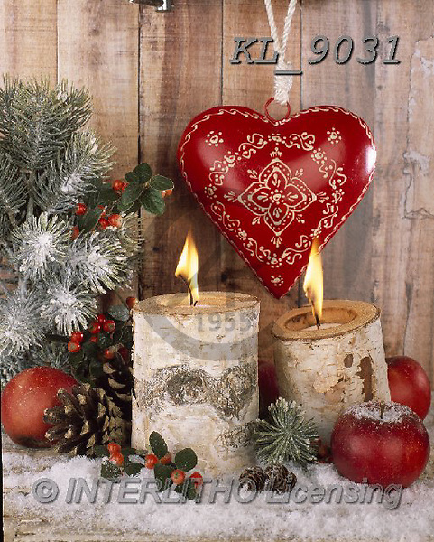 Interlitho-Alberto, CHRISTMAS SYMBOLS, WEIHNACHTEN SYMBOLE, NAVIDAD SÍMBOLOS, photos+++++,candles, heart,KL9031,#xx# ,wood