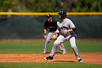 Dartmouth Big Green Ubaldo Lopez (26) leads off during a game against the Omaha Mavericks on February 23, 2020 at North Charlotte Regional Park in Port Charlotte, Florida.  Dartmouth defeated Omaha 8-1.  (Mike Janes/Four Seam Images)