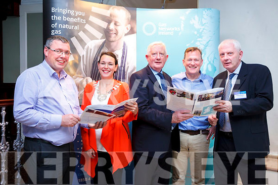 Denis Collins (Site Manager with Kerry Ingredients Listowel), Aoife Thornton (Cathaoirleach Listowel Municipal District), Frank Hayes (Director of Corporate Affairs Kerry Group), David Martin (Eirgrid) and Brendan McDermott (Gas Networks Ireland Construction Manager) pictured at the Gas Networks Ireland information evening in the Listowel Arms Hotel on Tuesday evening.
