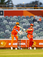 1st November 2019; Western Australia Cricket Association Ground, Perth, Western Australia, Australia; Womens Big Bash League Cricket, Perth Scorchers versus Melbourne Renegades; Sophie Molineux of the Melbourne Renegades hits the ball to deep mid wicket to get caught out