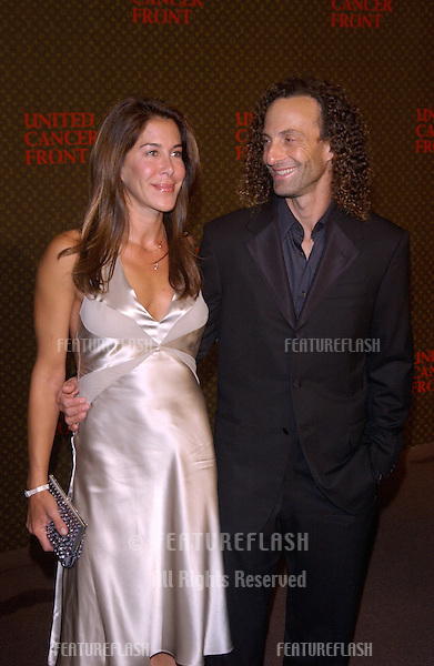 Nov 8, 2004; Los Angeles, CA; Musician KENNY G & wife at the Louis Vuitton United Cancer Front Gala at Universal Studios, California.