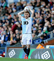 Blackburn Rovers' Harrison Reed prepares to take a throw-in<br /> <br /> Photographer Rich Linley/CameraSport<br /> <br /> The EFL Sky Bet Championship - Blackburn Rovers v Preston North End - Saturday 9th March 2019 - Ewood Park - Blackburn<br /> <br /> World Copyright © 2019 CameraSport. All rights reserved. 43 Linden Ave. Countesthorpe. Leicester. England. LE8 5PG - Tel: +44 (0) 116 277 4147 - admin@camerasport.com - www.camerasport.com