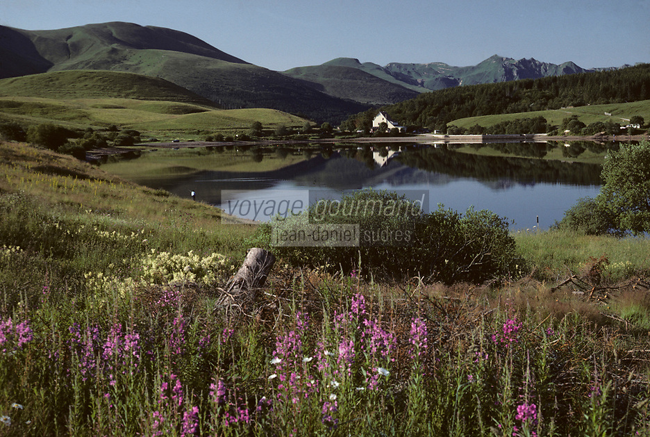 Europe/France/Auvergne/63/Puy-de-Dôme/Parc Naturel Régional des Volcans/Puy de Sancy (1885mètres): Le lac de Guéry et le massif de Sancy