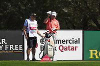 Peter Lawrie (IRL) and caddy Gerry on the 18th tee during Friday's Round 3 of the Commercial Bank Qatar Masters 2013 at Doha Golf Club, Doha, Qatar 25th January 2013 .Photo Eoin Clarke/www.golffile.ie