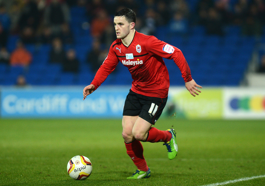 Cardiff City's Craig Conway in action during todays match  ..Football - npower Football League Championship - Cardiff City v Derby County - Tuesday 05th March 2013 - Cardiff City Stadium - Cardiff..© CameraSport - 43 Linden Ave. Countesthorpe. Leicester. England. LE8 5PG - Tel: +44 (0) 116 277 4147 - admin@camerasport.com - www.camerasport.com