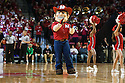 November 17, 2013: Herbie getting the fans fired up during a time out against the South Carolina State Bulldogs at the Pinnacle Bank Areana, Lincoln, NE. Nebraska defeated South Carolina State 83 to 57.