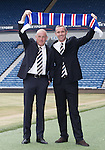 Rangers new management team of Mark Warburton and David Weir at Ibrox today