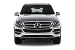 Car photography straight front view of a 2017 Mercedes Benz GLE-Class GLE300d 5 Door SUV Front View