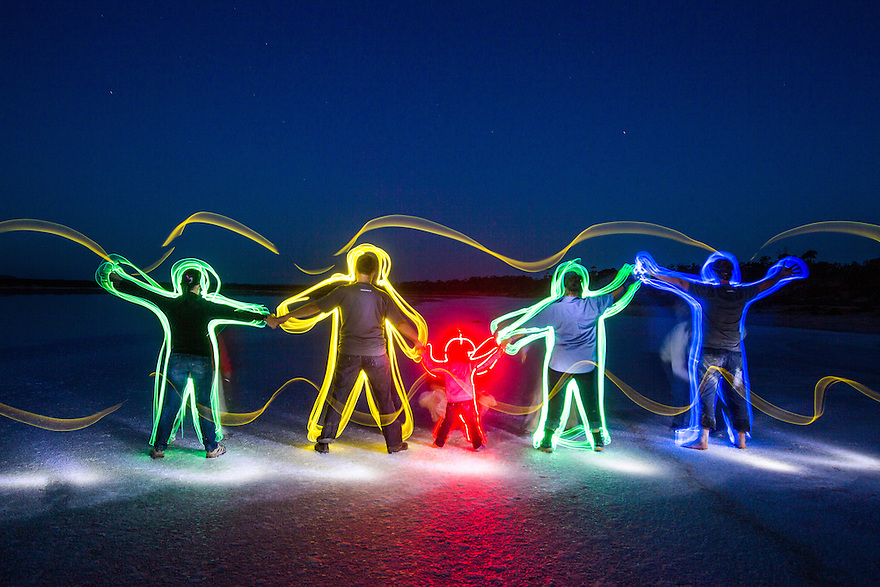 Light painting Australia