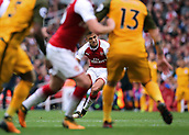 1st October 2017, Emirates Stadium, London, England; EPL Premier League Football, Arsenal versus Brighton; Alexis Sanchez of Arsenal takes a free kick
