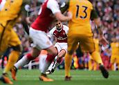 1st October 2017, Emirates Stadium, London, England; EPL Premier League Football, Arsenal versus Brighton; Alexis Sanchez of Arsenal takes a free kick