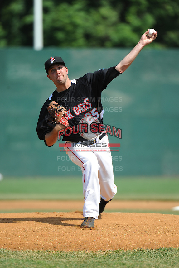 New Britain Rock Cats pitcher  Pat Dean (25) during game against the Richmond Flying Squirrels at New Britain Stadium on May 30, 2013 in New Britain, CT.  New Britain defeated Richmond 2-1.  (Tomasso DeRosa/Four Seam Images)