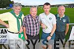 John McAulliffe, Christy Sheehy, Darran Aherne and Tom O'Shea pictured at the Ireland v Estonia U-16 International friendly at Pat Kennedy Park Listowel on Tuesday