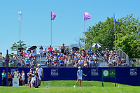 Lexi Thompson (USA) and Candie Kung (TPE) prepare to tee off on 1 before Sunday's final round of the 2017 KPMG Women's PGA Championship, at Olympia Fields Country Club, Olympia Fields, Illinois. 7/2/2017.<br /> Picture: Golffile | Ken Murray<br /> <br /> <br /> All photo usage must carry mandatory copyright credit (&copy; Golffile | Ken Murray)