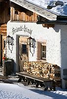 Oesterreich, Salzburger Land, Dienten: Skihuette Bruendl-Stadl | Austria, Salzburger Land, Dienten: ski hut Brundl-Stadl