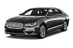 2018 Lincoln MKZ Select 4 Door Sedan Angular Front stock photos of front three quarter view