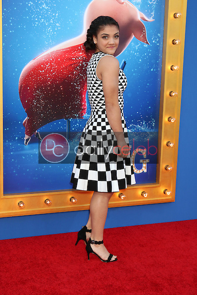 "Laurie Hernandez<br /> at the ""Sing"" Premiere, Microsoft Theater, Los Angeles, CA 12-03-16<br /> David Edwards/DailyCeleb.com 818-249-4998"