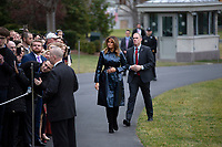 First lady Melania Trump greets supporters on the South Lawn of the White House in Washington D.C., U.S. as she and United States President Donald J. Trump depart to attend the College Football Playoff National Championship in New Orleans, Louisiana on Monday, January 13, 2020.  The Senate is set to begin his impeachment trial later this week, after Speaker of the United States House of Representatives Nancy Pelosi (Democrat of California) faced increased pressure to send over the two articles of impeachment. <br /> CAP/MPI/RS<br /> ©RS/MPI/Capital Pictures