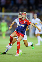 Boyds, MD - Saturday Sept. 03, 2016: Megan Oyster, Lynn Williams during a regular season National Women's Soccer League (NWSL) match between the Washington Spirit and the Western New York Flash at Maureen Hendricks Field, Maryland SoccerPlex.